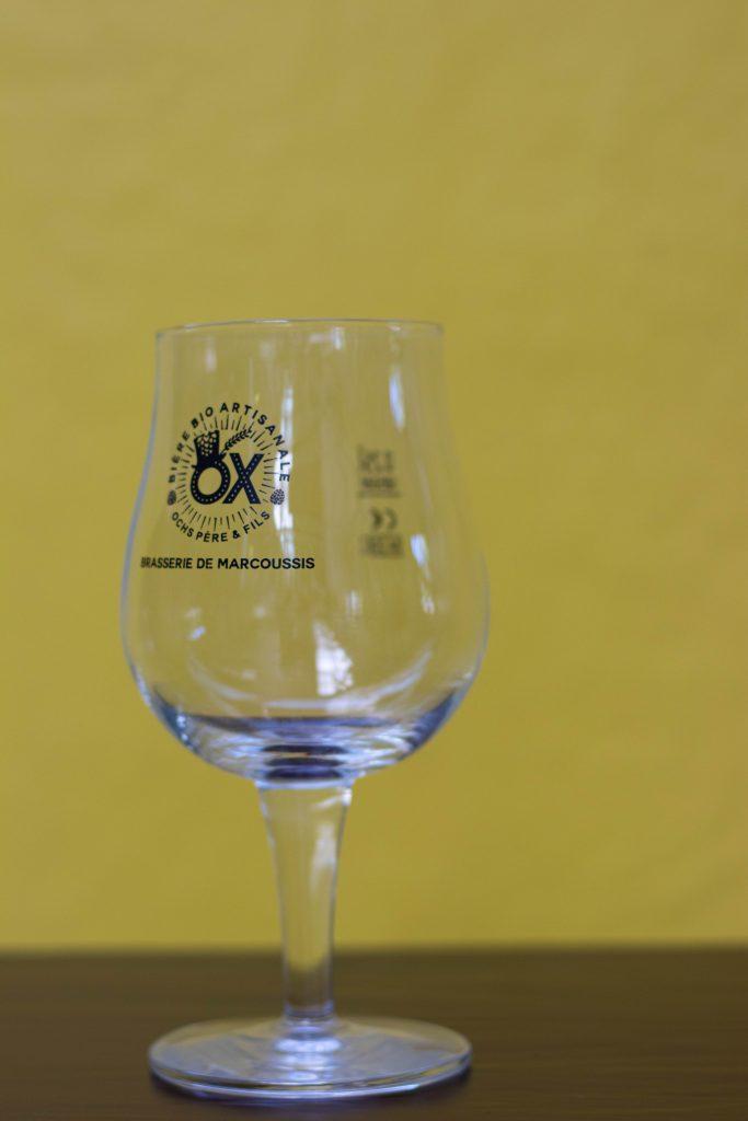 Photo du verre tulipe de la brasserie